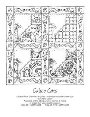 Free coloring page to print. Excerpt from the book Grandma's Quilts ...