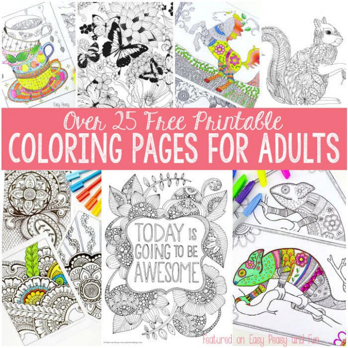 Free Coloring Pages for Adults – Easy Peasy and Fun – is coloring book free