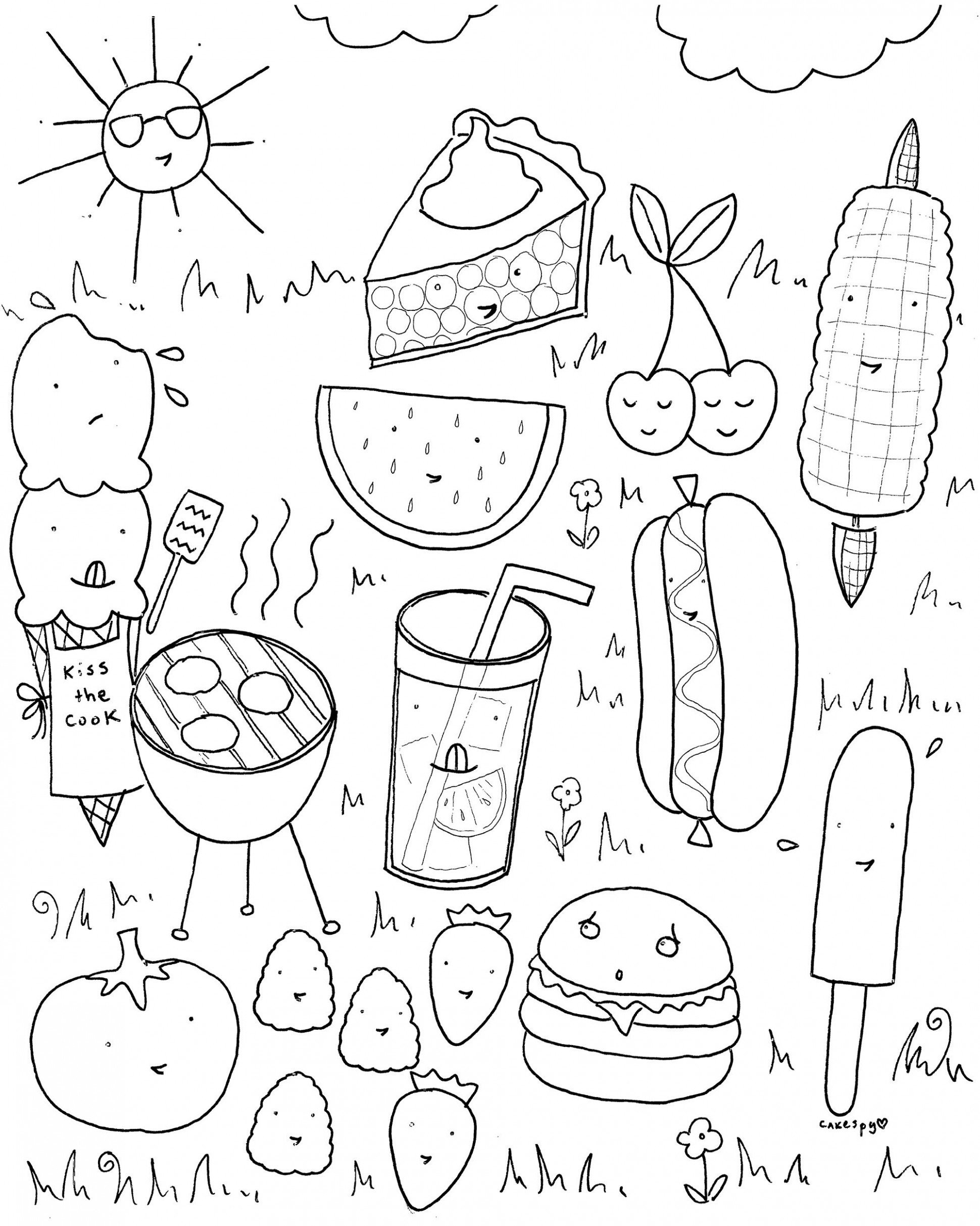 FREE Downloadable Summer Fun Coloring Book Pages   Ideen für Kinder ..