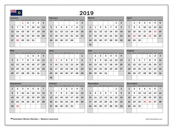 Free Printable 14 Calendar with Australia Holidays | November 14 ...