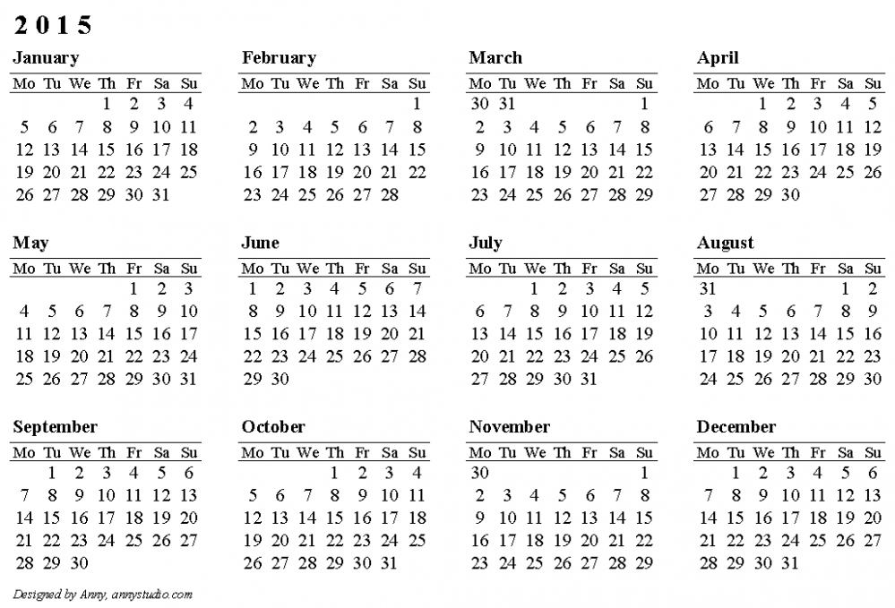 Free Printable Calendars and Planners 15, 15 and 15
