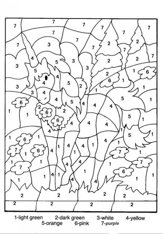 Free Printable Color by Number Coloring Pages | color by number ..