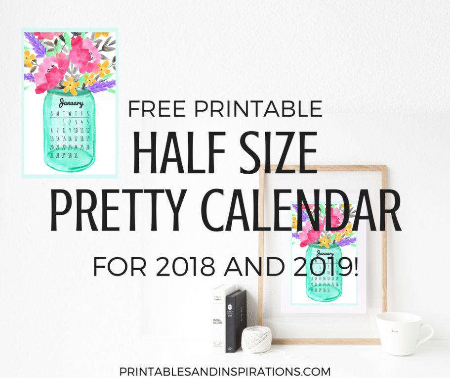 Free Printable Half Size Calendar 13 And 13 - Printables and ...
