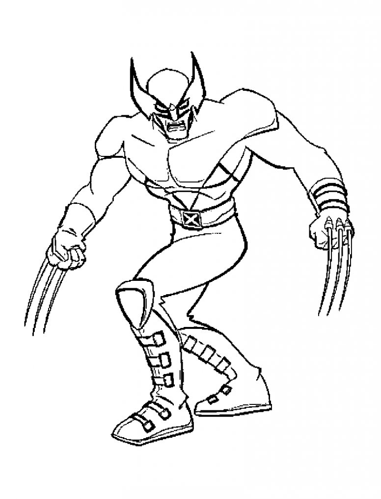 Free Printable X Men Coloring Pages For Kids   Comic Book Coloring ...