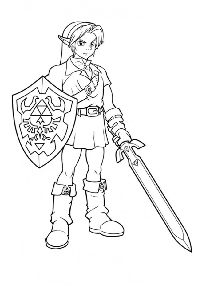 Free Printable Zelda Coloring Pages For Kids – zelda coloring book