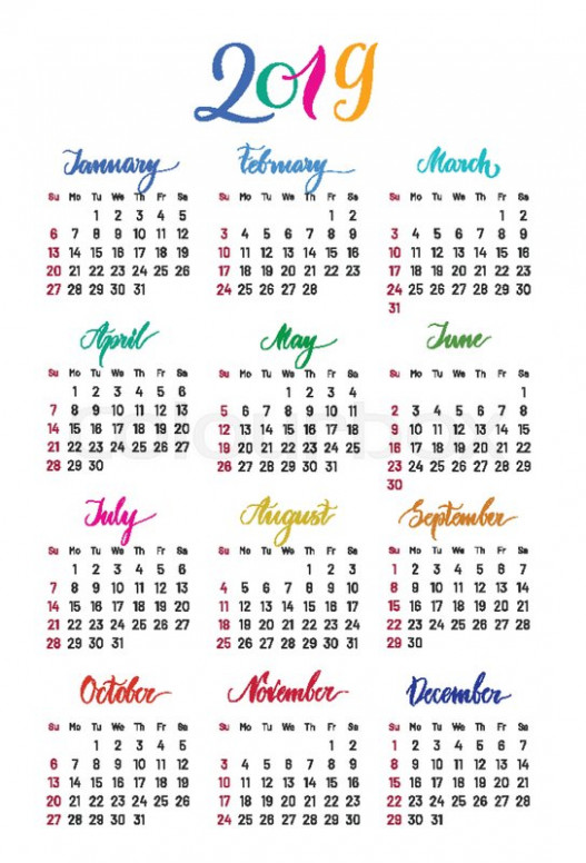 Free Yearly Printable 14 Calendar Excel Template | April 14 ...