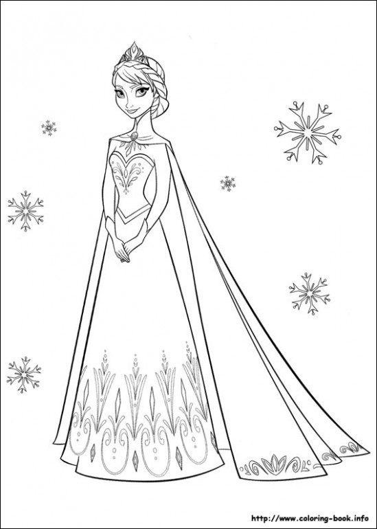 Frozen coloring picture – frozen coloring book
