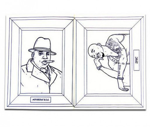 gangsta rap coloring book 17 – Retrenders – gangsta rap coloring book