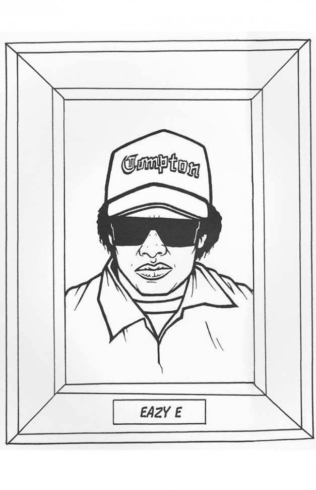 GANGSTA RAP COLORING BOOK – Sourpuss Clothing – gangsta rap coloring book