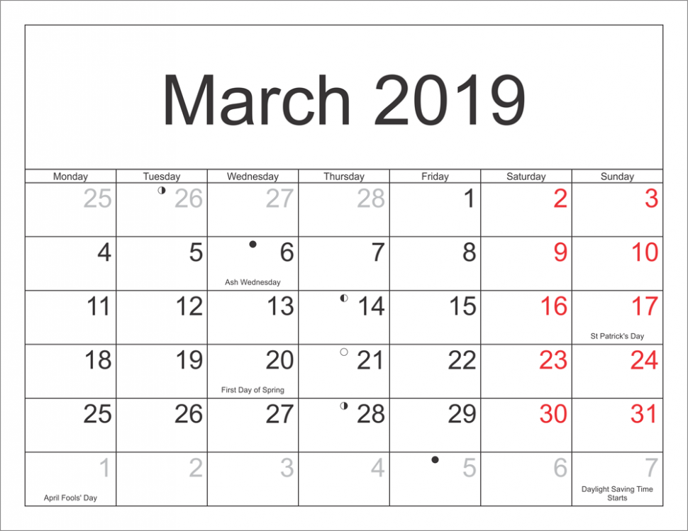 Get Free March 16 Full Moon Calendar Templates | January 16 Calendar - 2019 Full Year Calendar Template