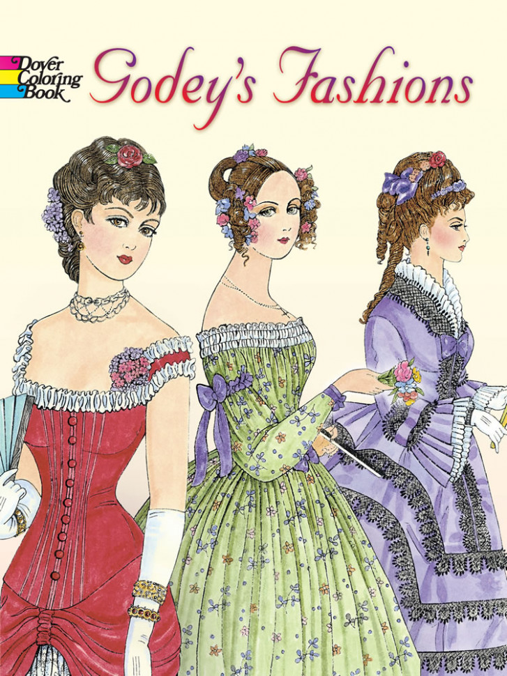 Godey's Fashions Coloring Book – fashion coloring book