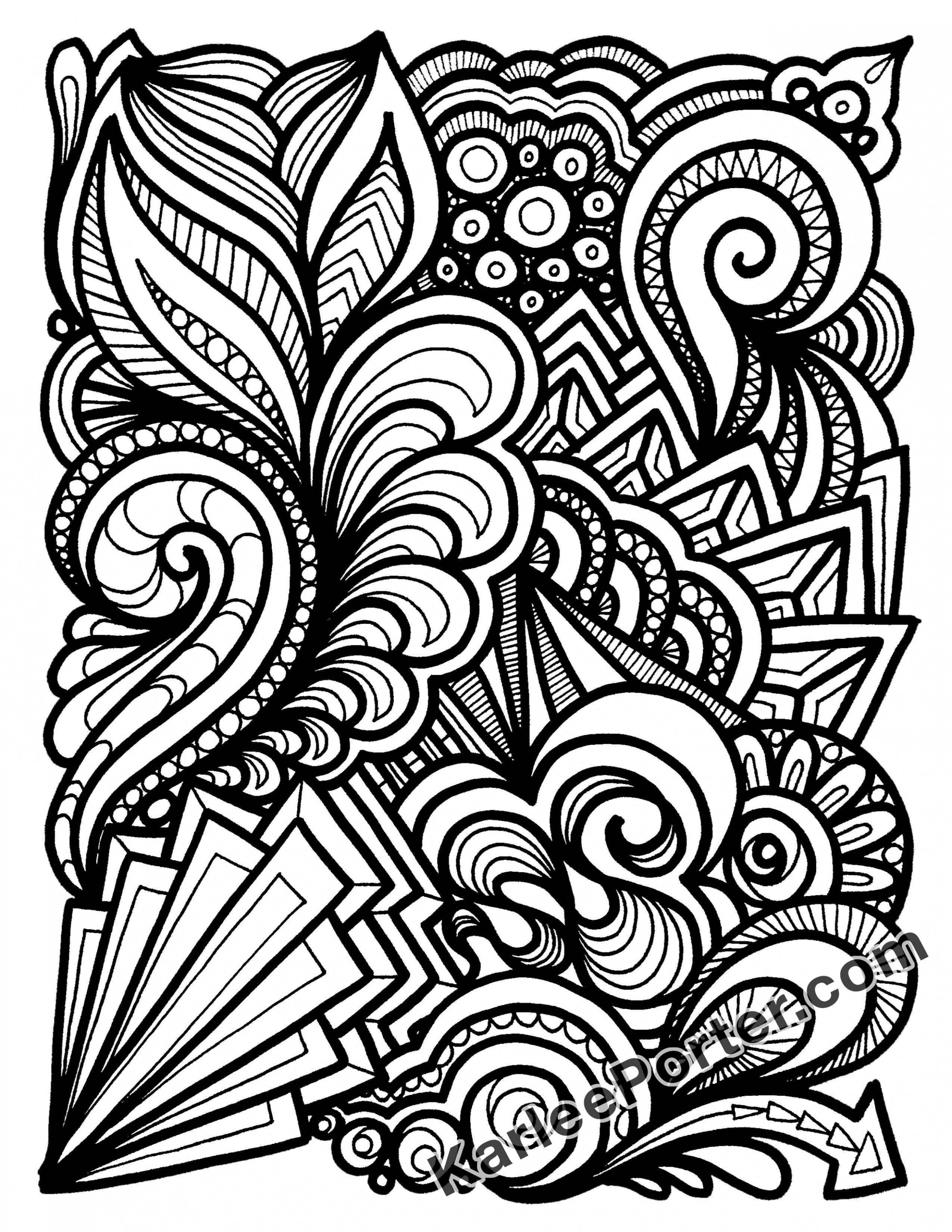 Graffiti Quilting Coloring Book – Downloadable – Karlee Porter - quilt coloring book