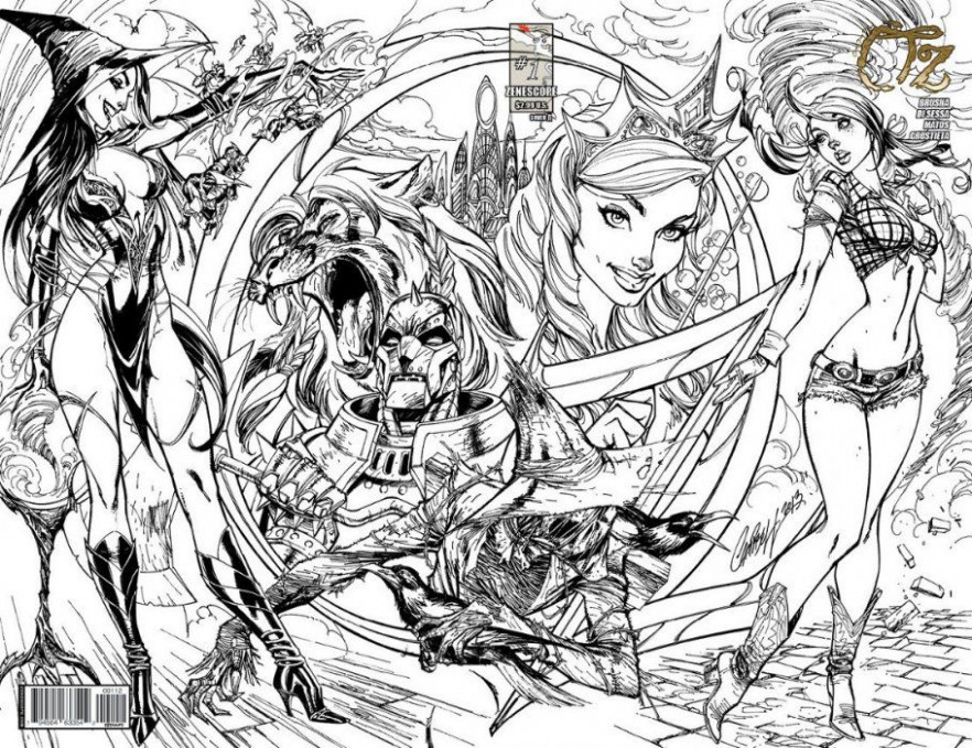 Grimm Fairy Tales Presents Oz #16 | J. Scott Campbell Zenescope ...