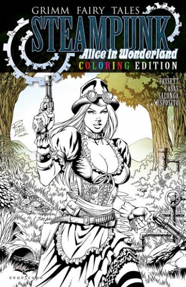 Grimm Fairy Tales Steampunk: Alice In Wonderland One-Shot Coloring ...