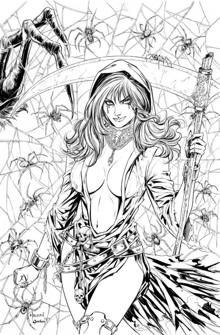 Grimm Takes of Terror Cover A for Zenescope Entertainment. Pencils ..