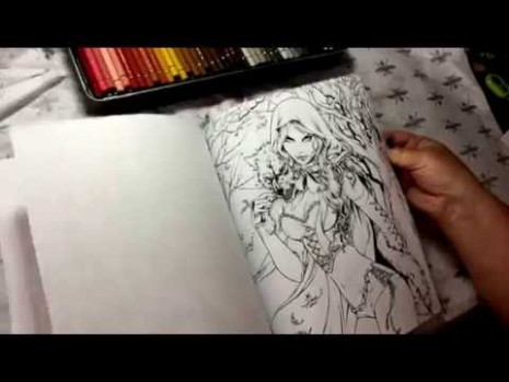 Grimms Fairy Tales coloring book flip thru review - YouTube