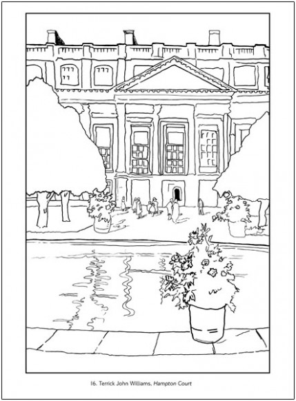 Hampton Court: Art for London Transport Coloring Book - london coloring book