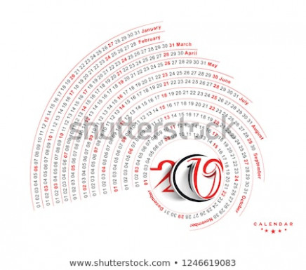 Happy New Year 20 Calendar New Stock Vector (Royalty Free ..