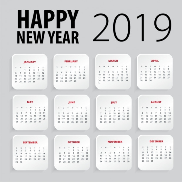 Happy New Year 20 Calendar Template, Calendar, Design, New PNG and ..