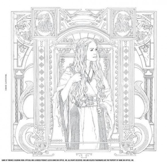 HBO Game of Thrones Coloring Book – By The Board Games  – game of thrones coloring book