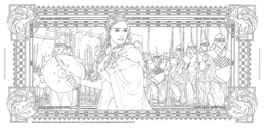 HBO's Game of Thrones Coloring Book | Chronicle Books – game of thrones coloring book