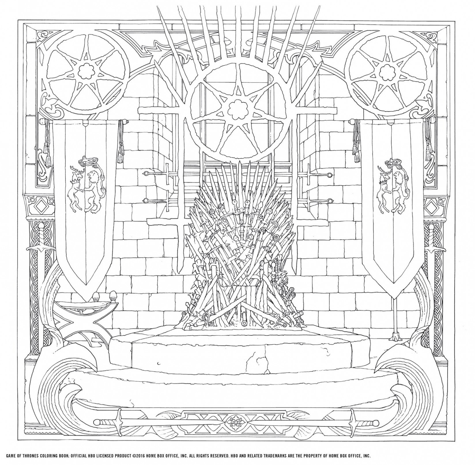 HBO's Game of Thrones Coloring Book: HBO: 16: Amazon.com ..