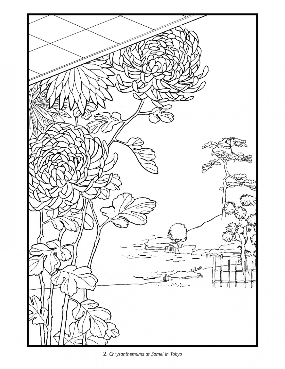 Hiroshige Flowers Japanese Colouring Book – japanese coloring book
