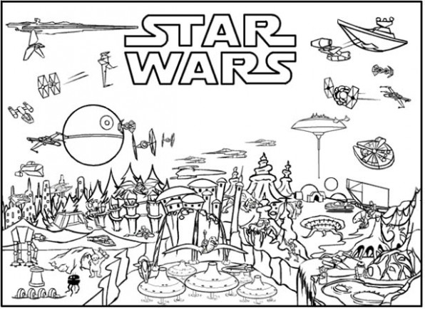 Ignite Your Creativity with Star Wars Coloring Pages… 16% Free ...