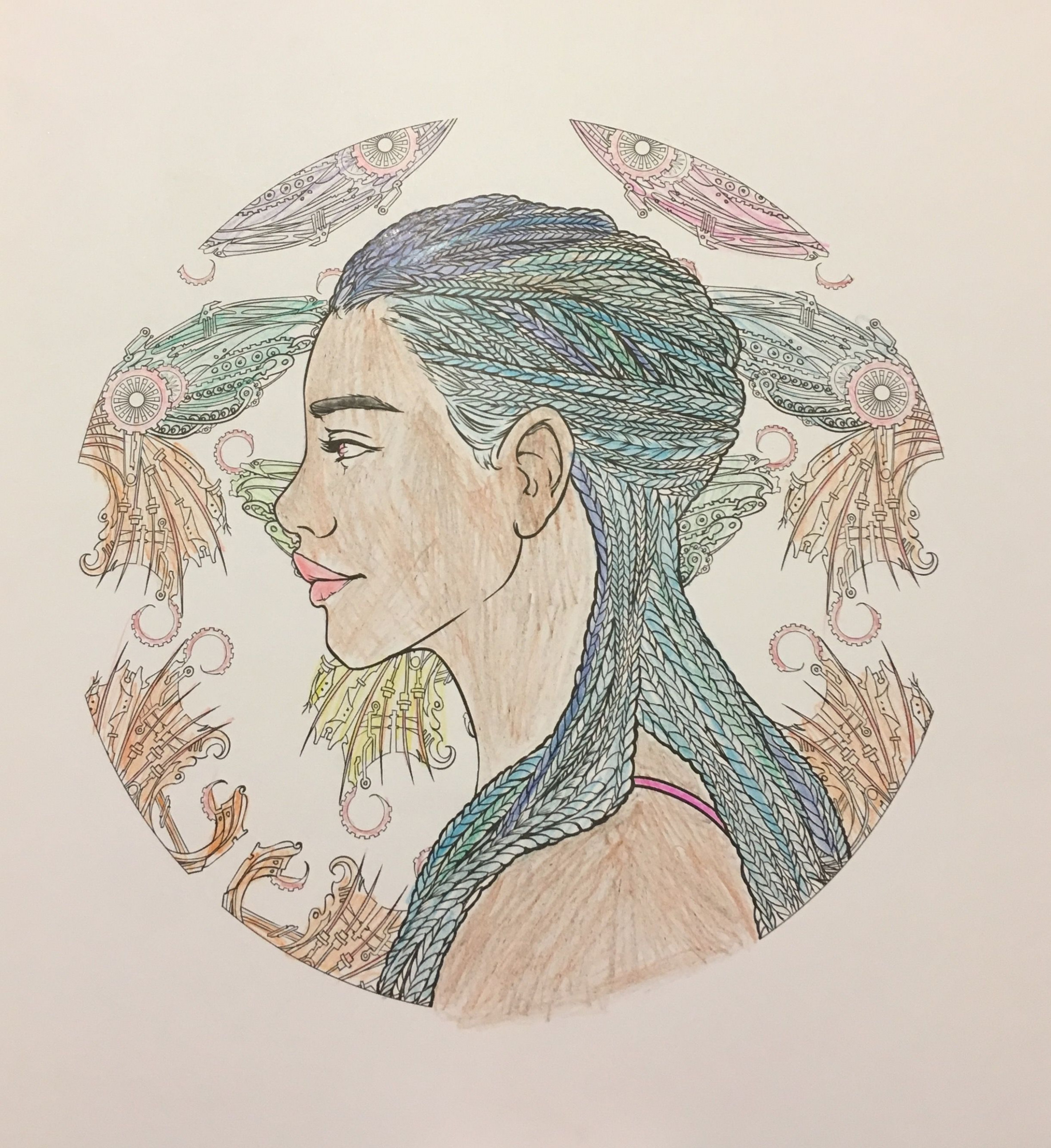 Iko from the Lunar Chronicles Coloring book!   The Lunar Chronicles ..