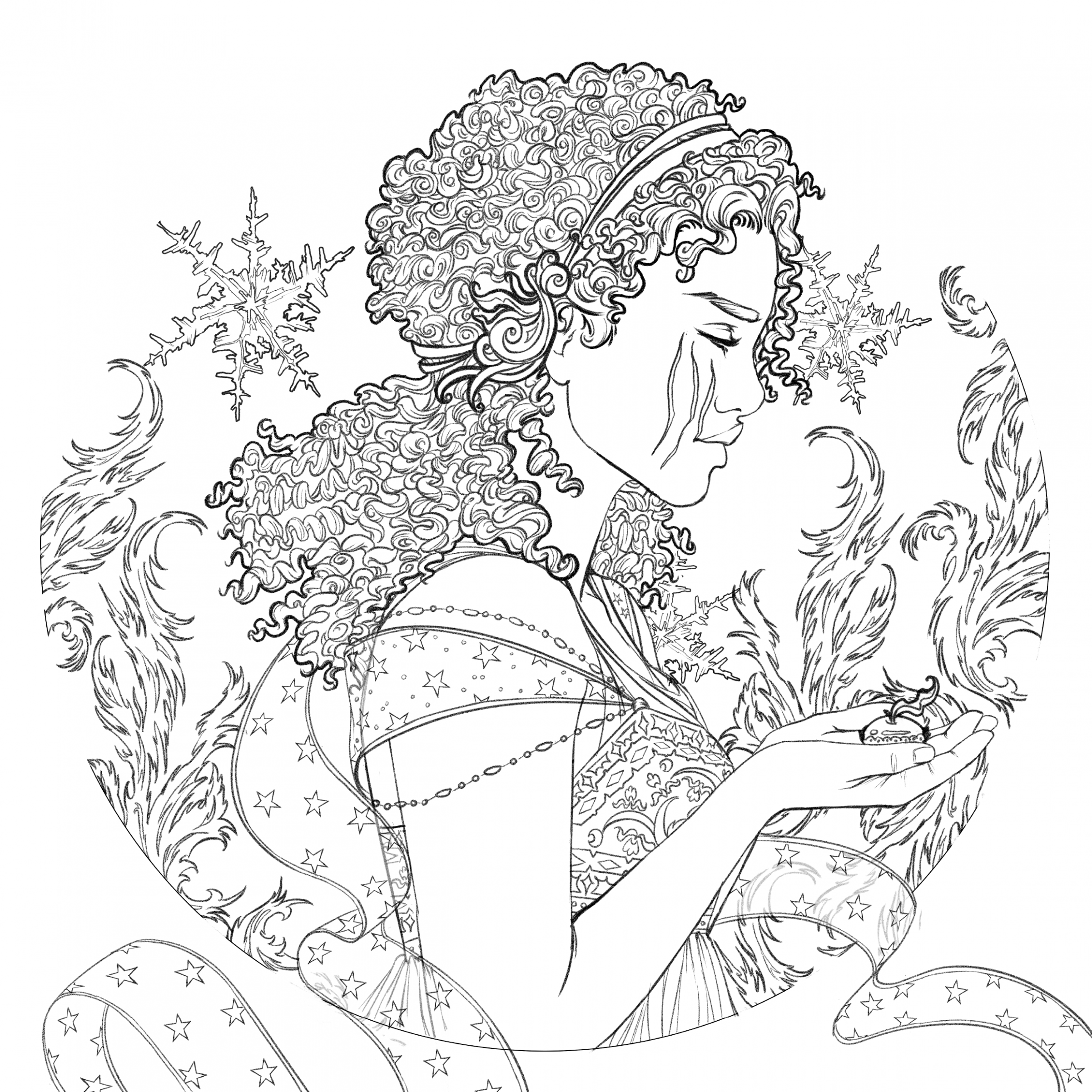 Image – Coloring book character profile Winter.png   Lunar ..