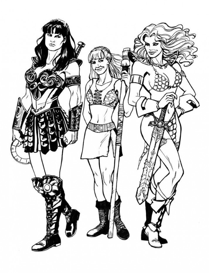 Image result for xena lineart | Sam's Xena