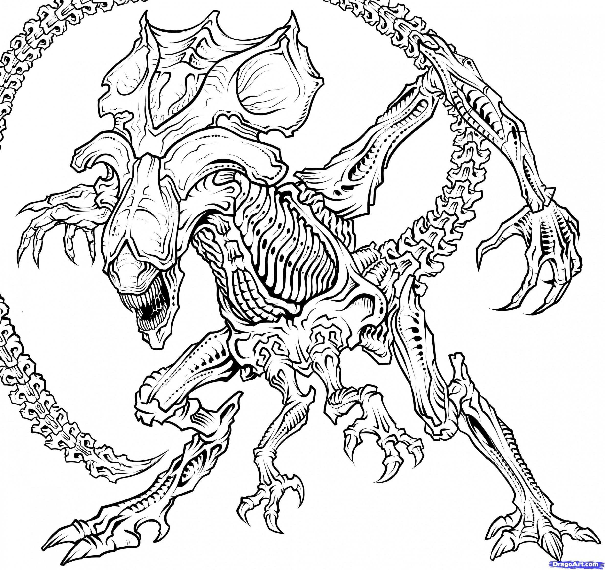 Image result for xenomorph coloring pages | adult coloring ..