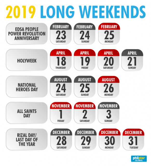 Infographic: Philippine holidays for 20 | Philstar