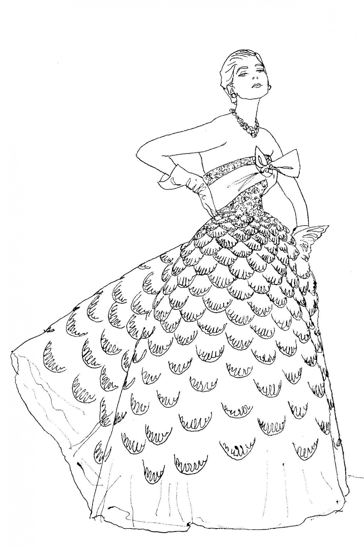 Introducing: The Vogue Colouring Book | Fashion Sketch | Pinterest ...