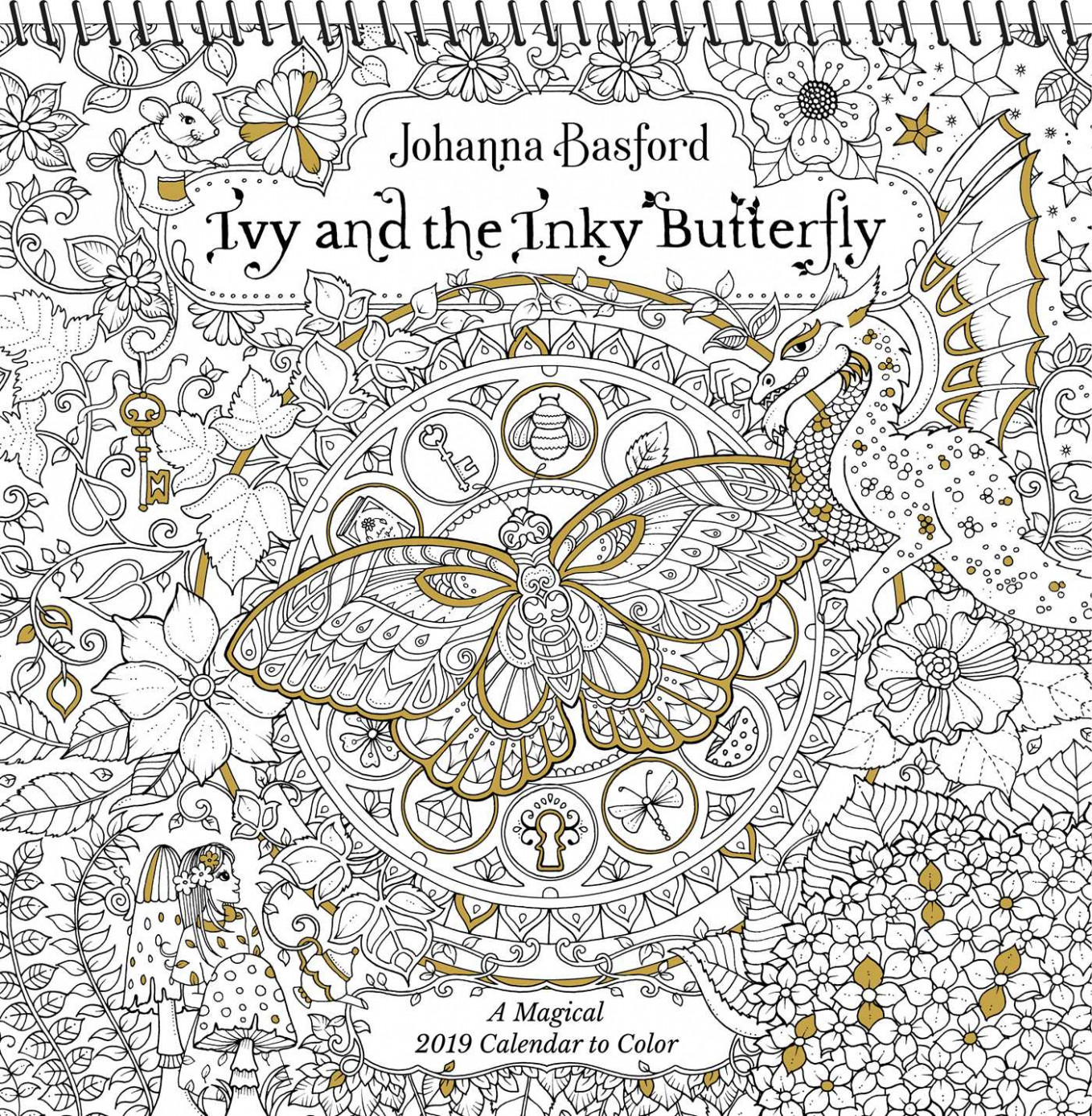 Ivy and the Inky Butterfly 12 Coloring Wall Calendar : A Magical ..