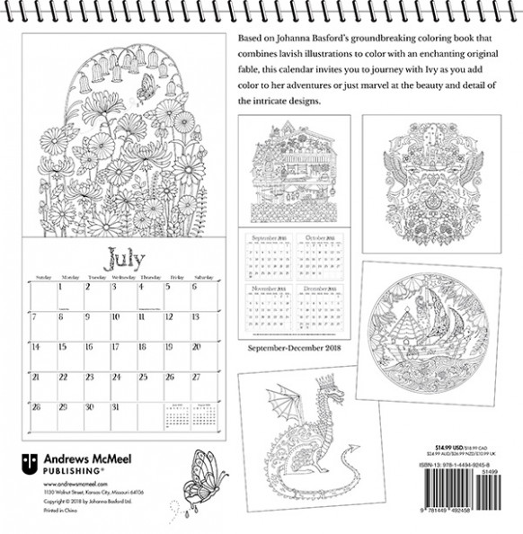 Ivy and the Inky Butterfly 12 Coloring Wall Calendar | Posh ..