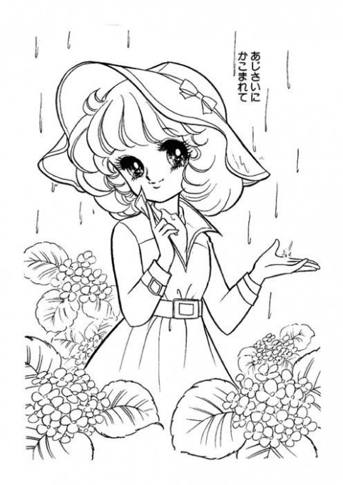 Japanese Anime Coloring Books | *Things to color – Shojo  – anime coloring book