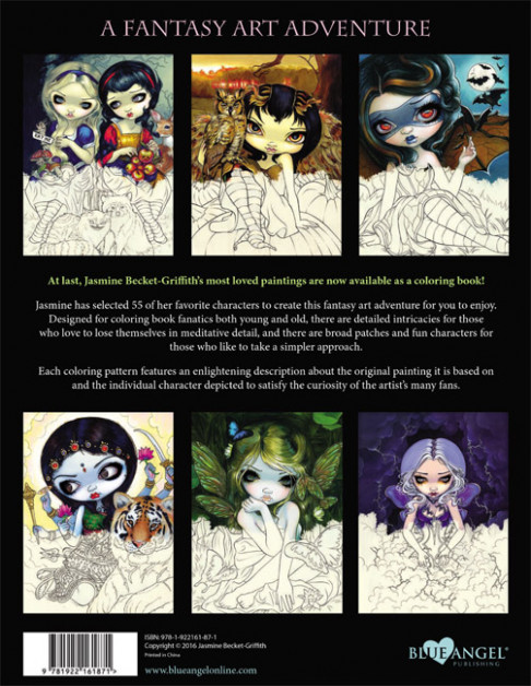 Jasmine Becket-Griffith Coloring Book Adult Grownup