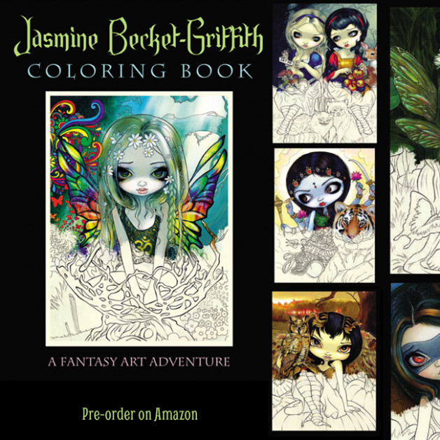 Jasmine Becket-Griffith Coloring Book preorder on Amazon