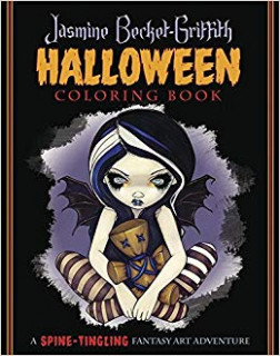 Jasmine Becket-Griffith Halloween Coloring Book: A Spine-Tingling ...