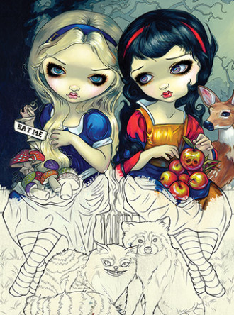 Jasmine Becket-Griffith Strangeling Fairy Coloring Book #JBGCB