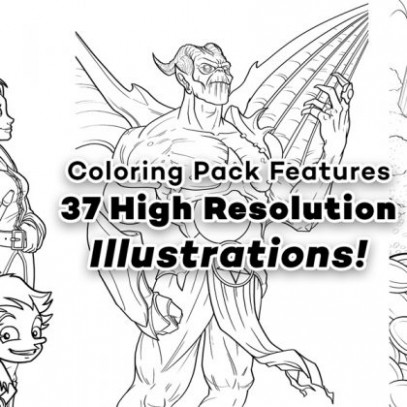 Jazza's Coloring eBook! | Jazza Studios – jazza coloring book