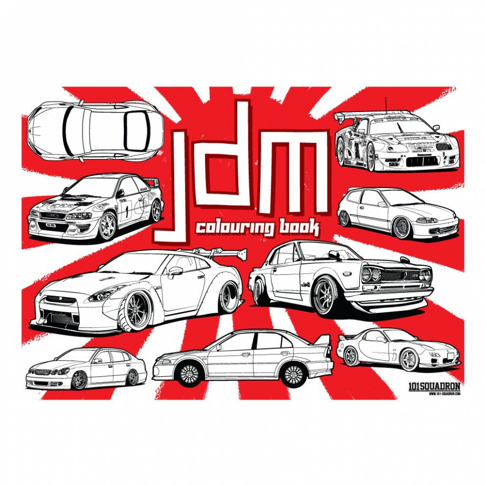 JDM Colouring book | 19-squadron