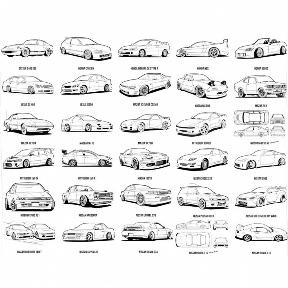 JDM Colouring Book Double Deal | 19-squadron – jdm coloring book