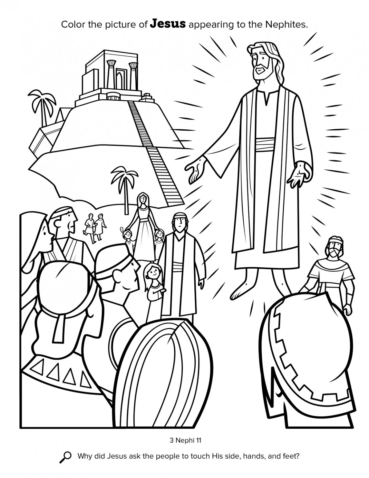Jesus Appears to the Nephites – lds coloring book