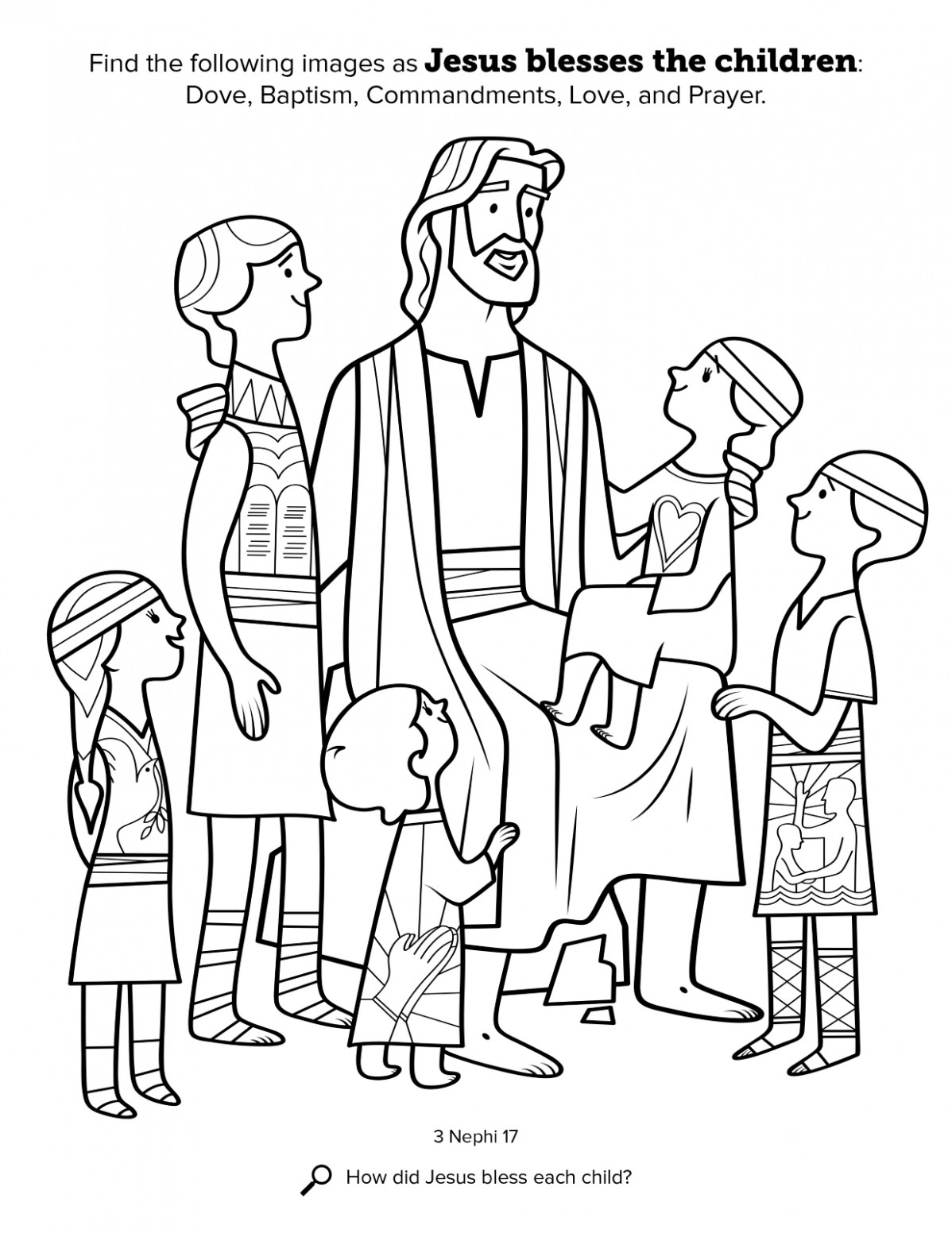 Jesus Blesses the Children – lds coloring book