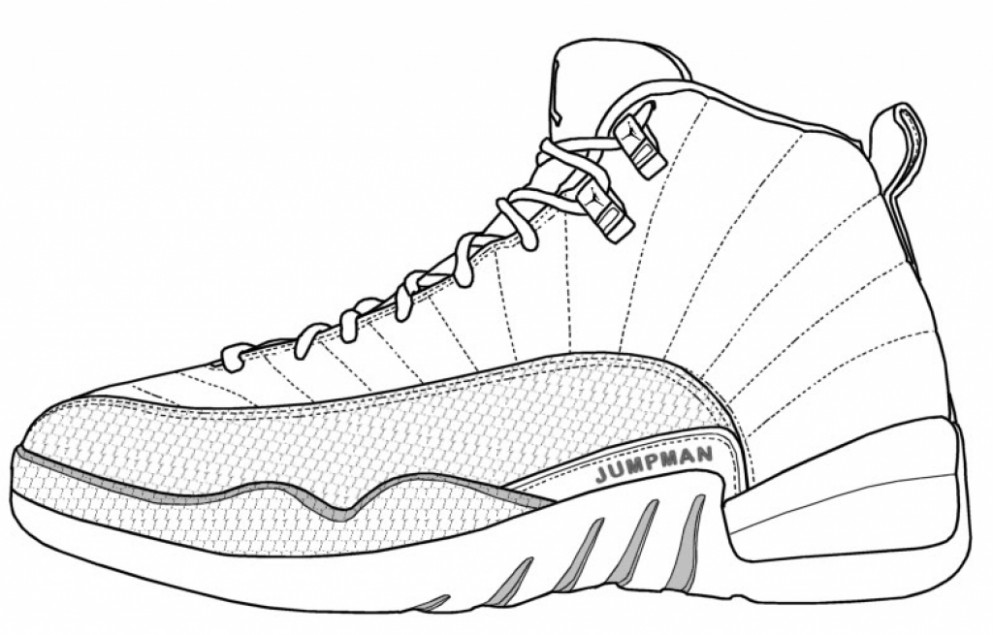 jordan shoes coloring sheets jordan coloring pages shoes coloring ...