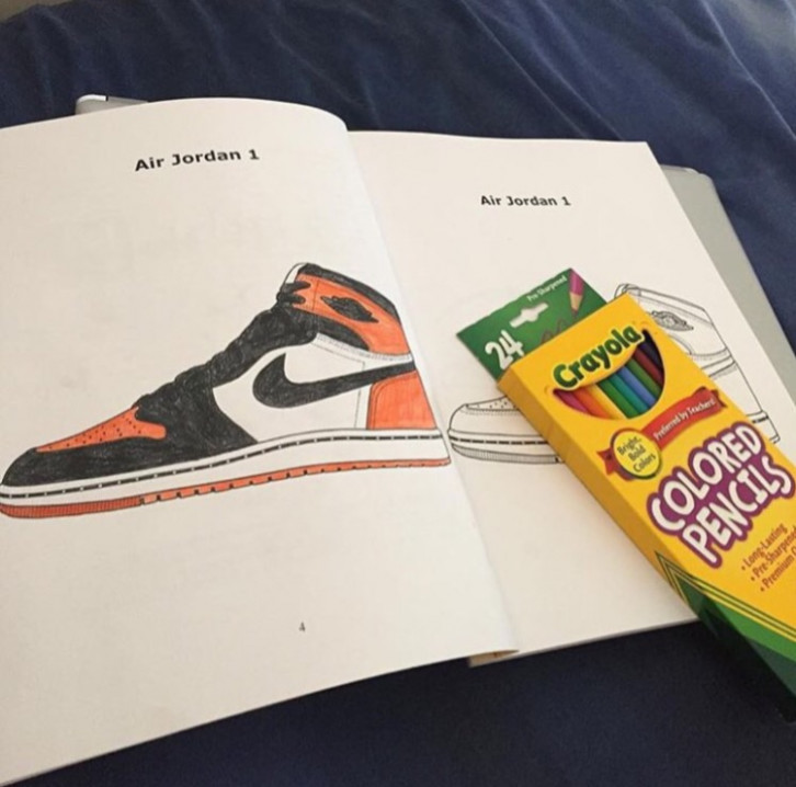 Jordan/Sneaker Coloring Books – FEELGOOD THREADS