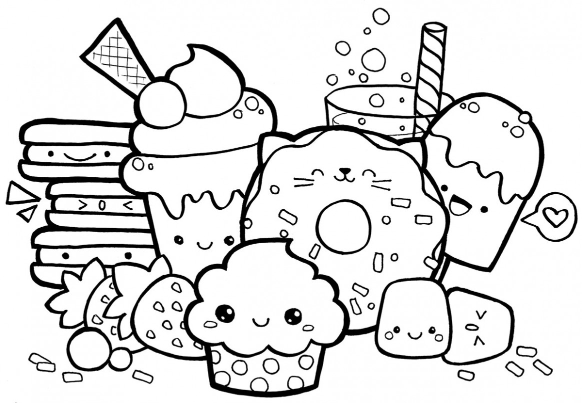 Kawaii Coloring Pages 19 With Kawaii Coloring Pages ..