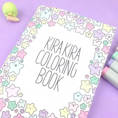 Kawaii Products – KiraKiraDoodles – kira kira coloring book